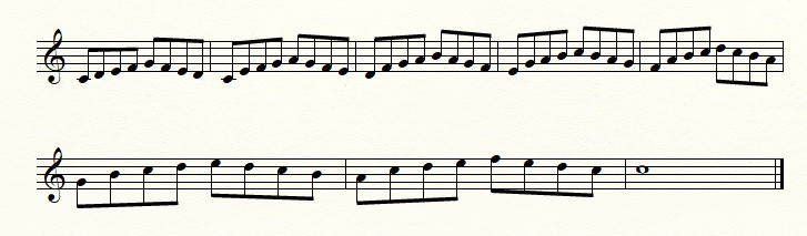 returning scales example