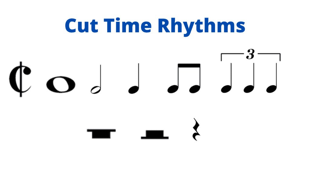 cut time meter rhythms teaching rhythm to beginners